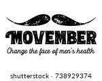 movember  awareness of men's...   Shutterstock .eps vector #738929374