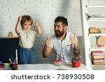 family thumbs up. father and... | Shutterstock . vector #738930508