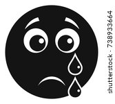 cry smile icon. vector simple... | Shutterstock .eps vector #738933664