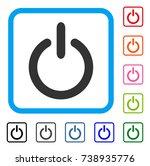 turn off icon. flat gray iconic ...