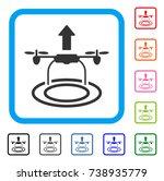 start drone icon. flat grey...