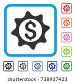 money seal icon. flat gray...
