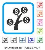 money tree icon. flat grey...