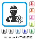 industrial scientist icon. flat ... | Shutterstock .eps vector #738937768