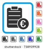 euro pad icon. flat grey...