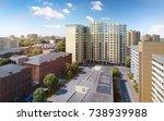 modern residential complex  3d... | Shutterstock . vector #738939988