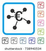 euro distribution icon. flat...
