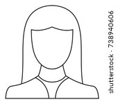 female avatar icon. thin line...