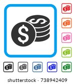 dollar coin stack icon. flat...