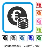 euro and dollar coins icon.... | Shutterstock .eps vector #738942709
