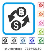 dollar baht exchange icon. flat ... | Shutterstock .eps vector #738943150