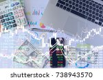 business digital currency... | Shutterstock . vector #738943570