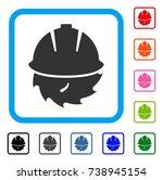 circular blade safety icon.... | Shutterstock .eps vector #738945154