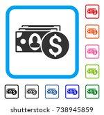 cash icon. flat gray iconic...