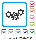business gears icon. flat gray...