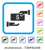 bribe icon. flat grey pictogram ...