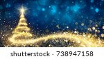 Golden Christmas Tree In...
