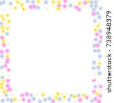 ditsy cute frame with daisy...   Shutterstock .eps vector #738948379