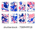 backgrounds with brush strokes. ... | Shutterstock .eps vector #738949918