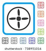 air screw icon. flat grey...