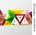 color triangles background ... | Shutterstock .eps vector #738953140