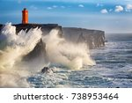 storm waves at the west coast... | Shutterstock . vector #738953464