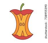 apple stump icon cartoon