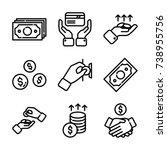 money   finance icon set   Shutterstock .eps vector #738955756