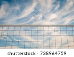 isolated tennis net. isolated... | Shutterstock . vector #738964759