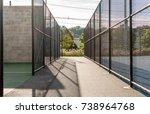 chain link fence sport active... | Shutterstock . vector #738964768