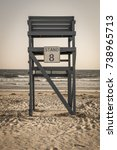 lifeguard tower. the number... | Shutterstock . vector #738965713