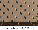 stucco wall with shadows.... | Shutterstock . vector #738965773