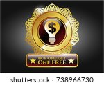 shiny emblem with business... | Shutterstock .eps vector #738966730