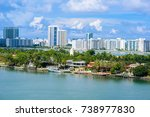 miami beach. aerial view of... | Shutterstock . vector #738977830