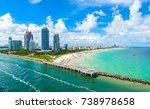 south pointe park and pier at... | Shutterstock . vector #738978658