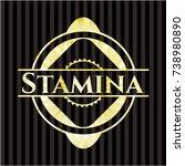 stamina gold shiny emblem | Shutterstock .eps vector #738980890