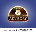golden emblem with 4kg... | Shutterstock .eps vector #738983170