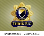 shiny emblem with shield icon... | Shutterstock .eps vector #738985213