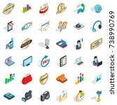 support service icons set.... | Shutterstock . vector #738990769