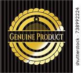 genuine product golden badge | Shutterstock .eps vector #738992224