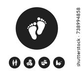 set of 5 editable child icons....