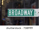 Broadway Street Sign  Manhatta...
