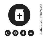 set of 5 editable faith icons....