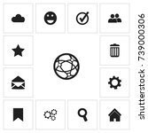 set of 13 editable web icons....