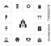 set of 13 editable religion...
