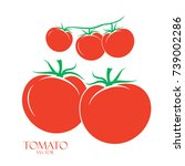 several red tomatoes | Shutterstock .eps vector #739002286