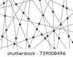 vector  pattern. irregular... | Shutterstock .eps vector #739008496