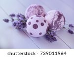 bath bombs with lavender... | Shutterstock . vector #739011964