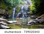 the waterfalls   costa rica | Shutterstock . vector #739020343
