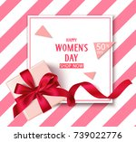 women's day sale template with... | Shutterstock .eps vector #739022776
